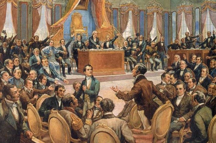 Quadro retrata Assembleia Constituinte de 1823
